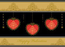 Decorative background with hearts Stock Photos