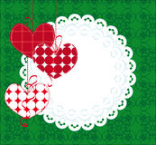 Decorative background with hearts and lace Stock Photo