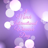 Decorative background  for international women`s day Royalty Free Stock Photo