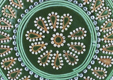 Decorative background of jewellery box. Green decorative background of jewellery box Royalty Free Stock Photo