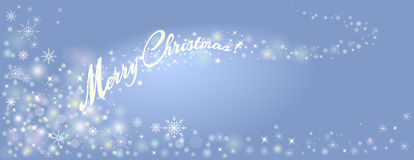 Decorative background for a Merry Christmas Greeting card with s Stock Photography