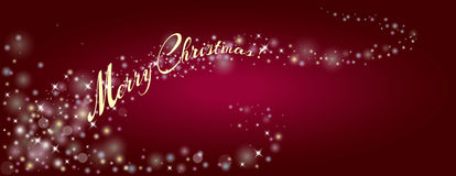 Decorative background for a Merry Christmas Greeting card with s Stock Images