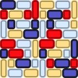 Decorative background of multicolored bright glass mosaic. vector illustration