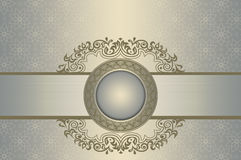 Decorative background with old-fashioned patterns. Stock Image