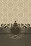 Decorative background with old-fashioned patterns and frame. Vintage background with decorative border,frame and old-fashioned patterns Royalty Free Stock Images