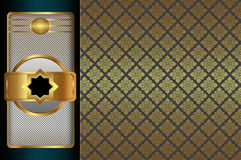 Decorative background with ornament. Royalty Free Stock Images