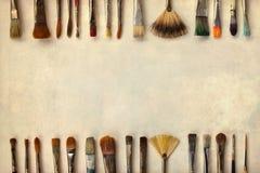 Decorative background with paintbrushes Royalty Free Stock Image
