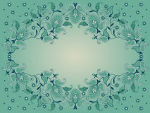 Decorative background with paisley. Decorative background with flowers and paisley Royalty Free Stock Photos