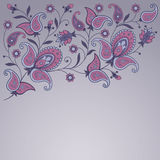 Decorative background with paisley Royalty Free Stock Image