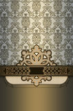 Decorative background with patterns and elegant border. Royalty Free Stock Images