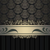 Decorative background with patterns and elegant border. Stock Photography