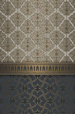 Decorative background with patterns and elegant border. Royalty Free Stock Photography