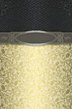 Decorative background with patterns and elegant frame. Royalty Free Stock Image
