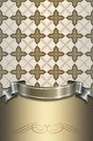 Decorative background with ribbon and ornament. Royalty Free Stock Image