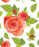 Decorative background with roses Royalty Free Stock Photos