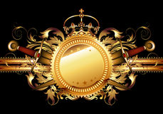 Decorative background with shield Royalty Free Stock Photo