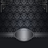 Decorative background with silver patterns. Stock Photo
