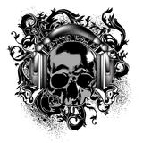 Decorative background with skull Royalty Free Stock Image