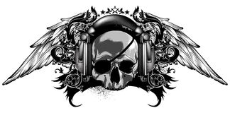Decorative background with skull Stock Photography