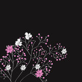 Decorative background with spring flowers Stock Images