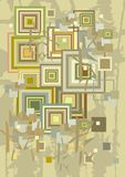 Decorative background with squares Royalty Free Stock Images