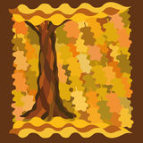 Decorative background with tree and leaves Royalty Free Stock Photography