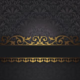 Decorative background with vintage border. Royalty Free Stock Photo