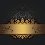 Decorative background with vintage border. Royalty Free Stock Photography