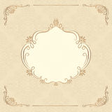 Decorative background with vintage frame. Decorative background with ornamental design Royalty Free Stock Images