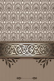 Decorative background with vintage ornamental border. Stock Images