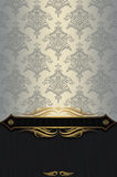 Decorative background with vintage patterns and border. Royalty Free Stock Image