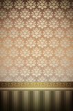 Decorative background with vintage patterns and gold ornamental Stock Images