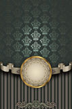 Decorative background with vintage patterns and ribbon. Stock Photography