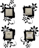 Decorative background for wall outlet and switcher Stock Photo