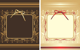 Decorative backgrounds with frames and bows Royalty Free Stock Image