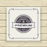 Decorative  badge or frame or label  black on white Royalty Free Stock Images