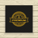 Decorative  badge or frame or label  gold on black Royalty Free Stock Image