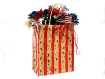 Decorative bag. With a patriotic theme stock images