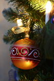 Decorative ball on the Christmas tree Royalty Free Stock Image