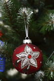 Decorative ball on the Christmas tree Stock Photography