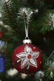 Decorative ball on the Christmas tree Stock Photography