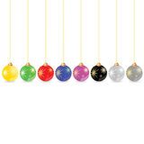 Decorative ball in different color vector Royalty Free Stock Photography