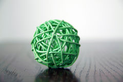 Decorative ball interior. Green decorative bamboo ball interior stock image