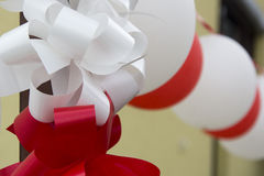 Decorative balloons and ribbons for wedding Stock Photo