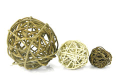 Decorative Balls. Isolated against a white background Stock Image