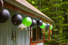 Decorative Balls. Green and black decorative balls Stock Photography