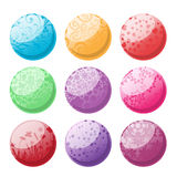 Decorative balls set Stock Photo