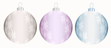 Decorative balls with stars Stock Images