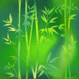 Decorative bamboo branches - Interior wallpaper stock illustration