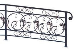 Decorative banisters. Decorative banisters in old stiletto. Isolated over white background royalty free stock photo